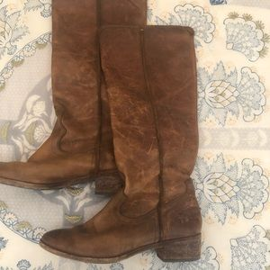 Women's Frye Brown Leather Boots Size 8M